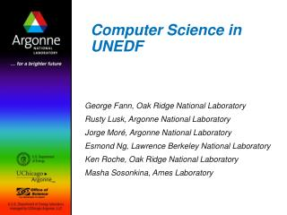 Computer Science in UNEDF
