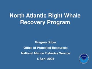 North Atlantic Right Whale Recovery Program