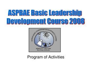 Program of Activities