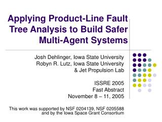 Applying Product-Line Fault Tree Analysis to Build Safer Multi-Agent Systems