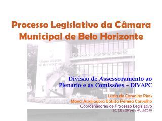 Processo Legislativo da Câmara Municipal de Belo Horizonte