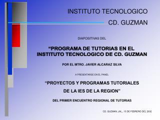 INSTITUTO TECNOLOGICO CD. GUZMAN