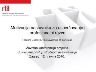 Motivacija nastavnika za usavršavanje i profesionalni razvoj