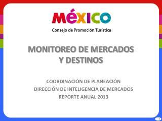 MONITOREO DE MERCADOS Y DESTINOS