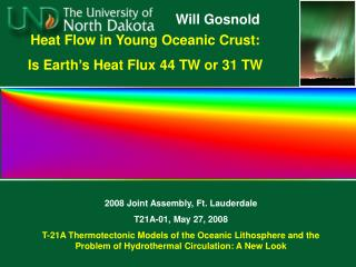 Heat Flow in Young Oceanic Crust:  Is Earth's Heat Flux 44 TW or 31 TW