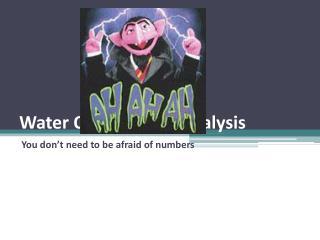 Water Quality Data Analysis