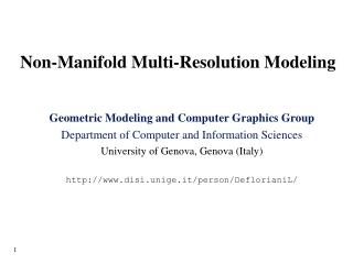 Non-Manifold Multi-Resolution Modeling
