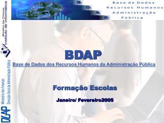 BDAP Base de  D ados dos Recursos Humanos da Administração Pública