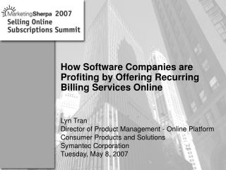 How Software Companies are Profiting by Offering Recurring Billing Services Online