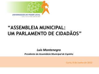 Luis Montenegro Presidente da Assembleia Municipal de Espinho