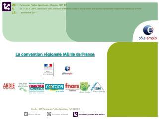 La convention régionale IAE Ile de France