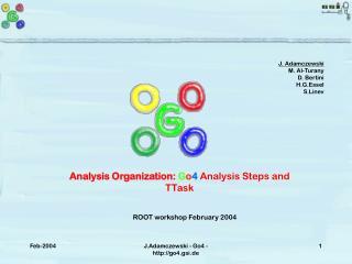 Analysis Organization:  G o 4  Analysis Steps and TTask
