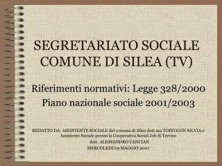 SEGRETARIATO SOCIALE COMUNE DI SILEA (TV)