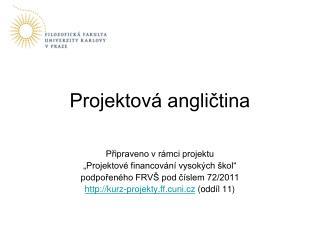 Projektová angličtina
