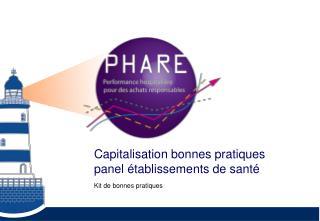 Capitalisation bonnes pratiques panel établissements de santé