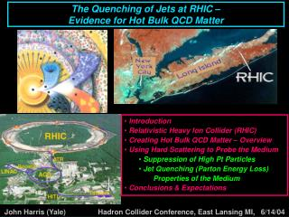 The Quenching of Jets at RHIC –  Evidence for Hot Bulk QCD Matter