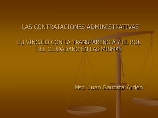 Msc. Juan Bautista Arríen