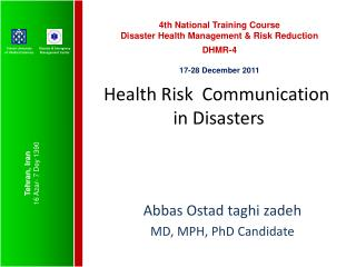 Health Risk  Communication  in Disasters