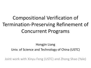 Compositional Verification of  Termination-Preserving Refinement of Concurrent Programs