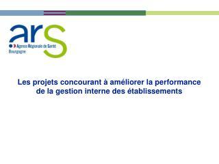 Les projets concourant à améliorer la performance de la gestion interne des établissements