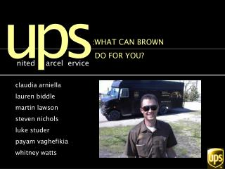 :WHAT CAN BROWN   DO FOR YOU?