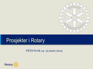 Prosjekter i  Rotary