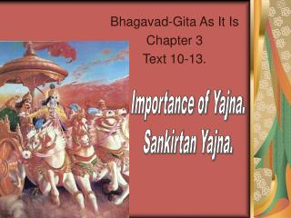 Bhagavad-Gita As It Is Chapter 3 Text 10-13.