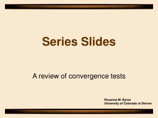 Series Slides