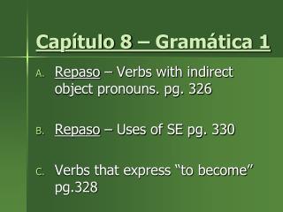 Capítulo 8 – Gramática 1