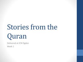 Stories from the Quran