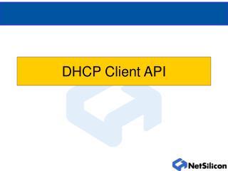 DHCP Client API
