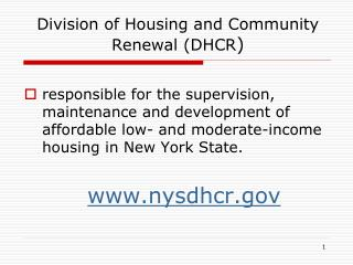 Division of Housing and Community Renewal (DHCR )