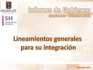 Informe de Gobierno (septiembre – diciembre 2012)