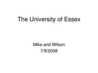 The University of Essex