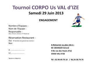 Tournoi CORPO Us VAL d'IZE