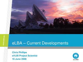 eLBA  �  Current Developments