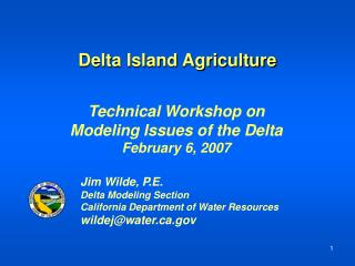 Delta Island Agriculture