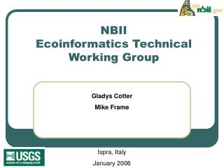 NBII  Ecoinformatics Technical Working Group