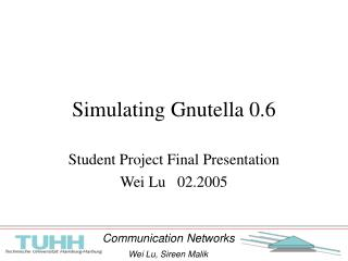 Simulating Gnutella 0.6