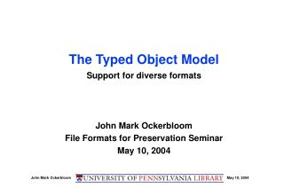 The Typed Object Model