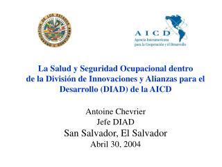 La Agencia Inter Americana para la Cooperaci�n y el Desarrollo (AICD)