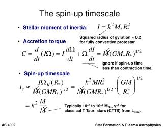 The spin-up timescale