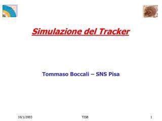 Simulazione del Tracker