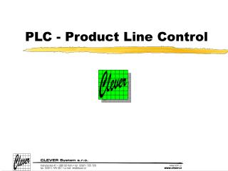 PLC - Product Line Control
