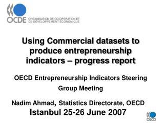 Nadim Ahmad ,  Statistics Directorate, OECD Istanbul 25-26 June 2007