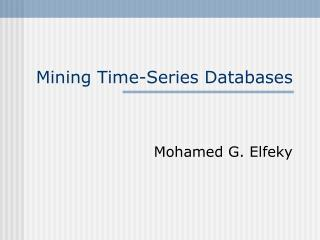 Mining Time-Series Databases