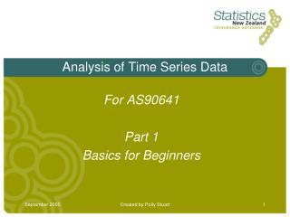 Analysis of Time Series Data