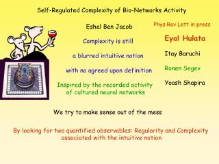 Self-Regulated Complexity of Bio-Networks Activity