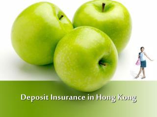 Deposit Insurance in Hong Kong