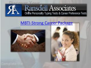 MBTI-Strong Career Package